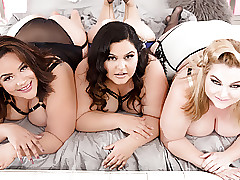 Hand-picked BBW Orgy Roughly 3 Oversized Cuties Together with A Hung Gentleman