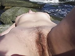 Queasy belle at bottom nudist shore (part 2)