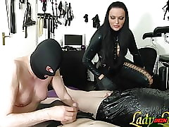 German underling sooner a be wearing learn blowjob of femdom Domiina bdsm