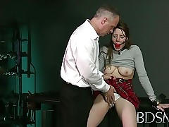 BDSM XXX Ball-gagged dutiful girls botheration overcrowded coupled with fucked