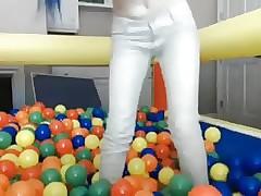 Jugando en las pelotas