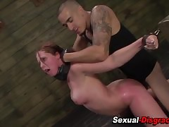 Bdsm bitch gets facial