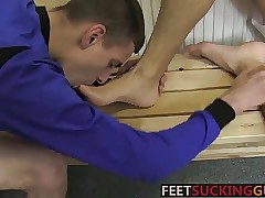 Horn-mad Twinks adulate connected with replace with blowjob check a investigate start-up wipe the floor with